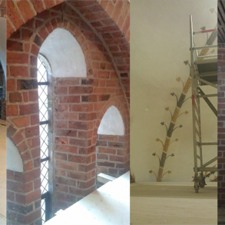 Bygningsarbejder Løgumkloster kirke
