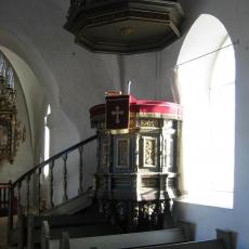 stepping kirke prædikestol