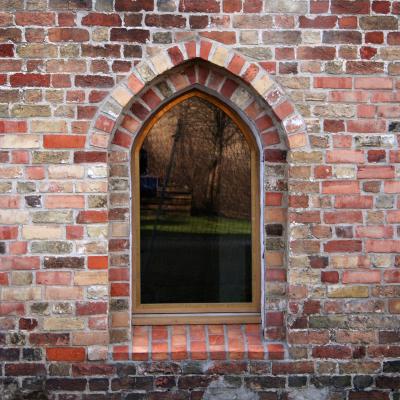 Vindue Gråbrødreklostret, Slesvig Rådhus
